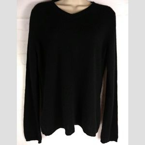 Black Cashmere Peck and Peck Long Sleeve Sweater L